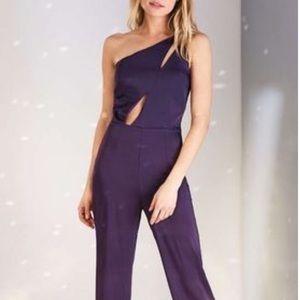 OML Purple Jumpsuit - one shoulder